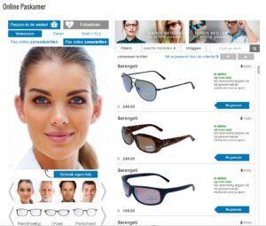 Online brillen passen
